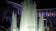 Reggia di Monza, Italy. Fountain by Night Stock Footage