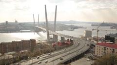 Panorama of the city Vladivostok Stock Footage