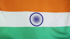 Flag of India in slow motion Stock Footage