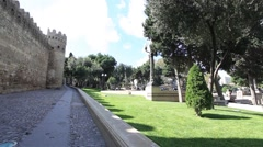 Wall Baku fortress Stock Footage