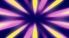 Shiny Sunburst Rays Of Yellow And Purple Light Loop Backgorund Stock Footage