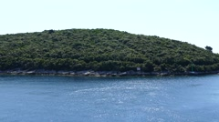 Badija island near the town of Korcula. Stock Footage