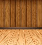 Wooden wall and wooden tiles Stock Illustration
