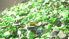 Sorting  cullet. Glass recicling. Renewable production. Super slow motion - stock footage