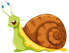 Snail with eyeballs sticking out Stock Illustration