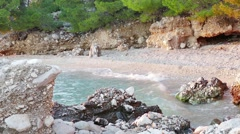 A beautiful bay on the Makarska Riviera Stock Footage