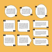 modern quote text template design elements - stock illustration