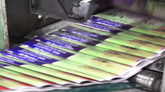 print plant factory closeup, LOOP BACKGROUND - stock footage