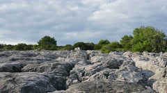 The uninhabited side of the island Korcula - stock footage