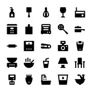 Home Appliances Vector Icons Stock Illustration