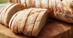 Focus on bread Stock Footage