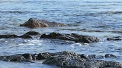 Przina Beach on the island of Korcula, Lumbarda Stock Footage