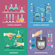 Chemical Laboratory Concept Stock Illustration