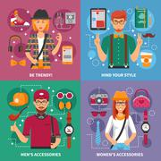 Stylish People Concept Stock Illustration