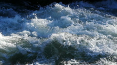 Rough flow of water in slow motion - stock footage