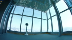 Observation deck, high atop Sky 100 tower in Hong Kong. UltraHD footage Stock Footage