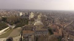 Avignon palais des papes drone. Stock Footage