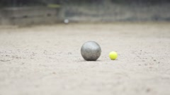 Throwing Balls of Petanque Stock Footage