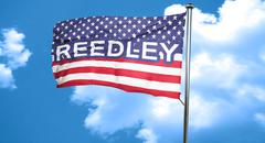 Reedley, 3D rendering, city flag with stars and stripes Stock Illustration