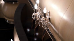 The theatre's interior. The wall lamp in the shape of a candle. A sconce. Stock Footage