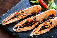 Multiple Spiny lobsters . Stock Photos