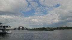 Remote View of the South Bridge to the Left Bank. Stock Footage
