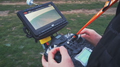 Remote Control drone hexacopter - stock footage