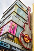 Hard Rock Cafe Hollywood boulevard Los Angeles - stock photo