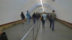The Movement of People in the Subway in Kiev Stock Footage