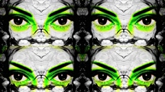 Vj Loops Eyes HD Club Visual Music Background - stock footage