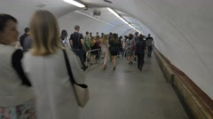 The Flow of Passengers at the Kiev Metro. Stock Footage