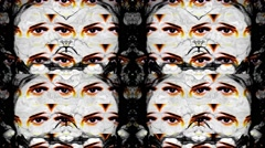Vj Loops Eyes HD Video Art Background - stock footage