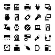 Icon Set of Electronic Devices - stock illustration