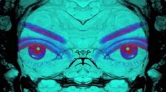 Vj Loops Eyes Motion Art Background Blue - stock footage