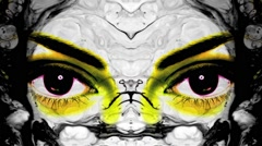 Vj Loops Eyes Motion Art Liquid Backgrounds - stock footage