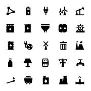 Energy Related Icon Set Piirros