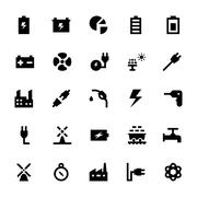 Energy and power Vector Icons Piirros