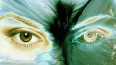 Eyes Visual Background Motion Vj Loops Stock Footage