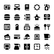 Hotel Services Amenities Vector Icons Stock Illustration