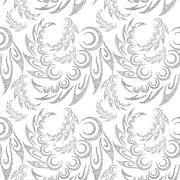 Abstract Contour Seamless Background Stock Illustration