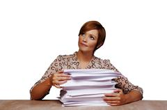 far to much work - stock photo