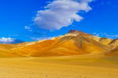 View of colorful mountain and desert Stock Photos