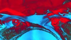 Eyes Vj Loop Lava Background - stock footage