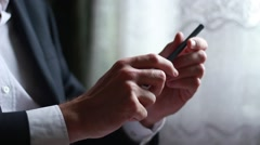 Holding a pen in hands Stock Footage