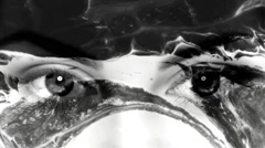 Vj Loops Eyes Motion Black And White Abstract Background - stock footage