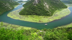 Canyon of river Crnojevica, Montenegro, aerial view Stock Footage