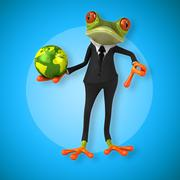 Fun frog Stock Illustration