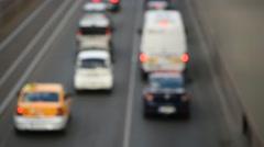 Urban traffic congestion Stock Footage