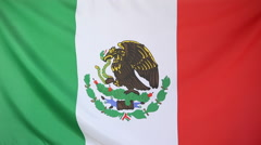 Textile flag of Mexico Stock Footage