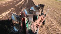 Plow Turning Soil Stock Footage
